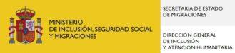 Logo MInisterio de Incliusión, Seguridad Social y Migraciones